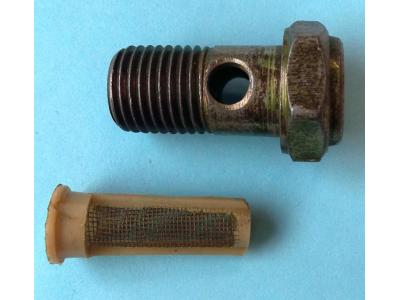 Болт пустотелый М14 с фильтр-сеткой (штуцер топливный) H HOWO (ХОВО) 90003962612 фото 1 Благовещенск